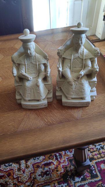 Pereche de statuete - Imparatul si Imparateasa