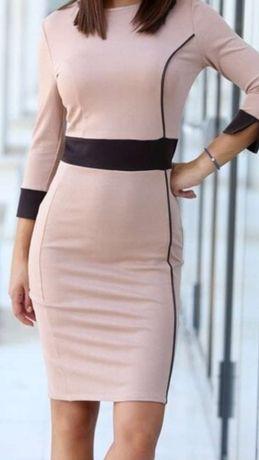 Елегантна дамска права рокля