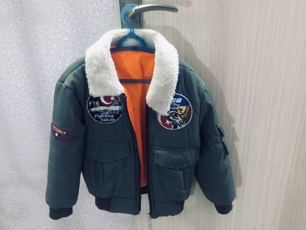 Детская куртка с синтепоном для мальчика