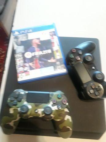 PS4 1tb 2 джойстик и fifa 21
