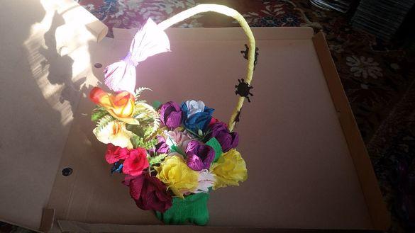 Декоративен букет от цветя