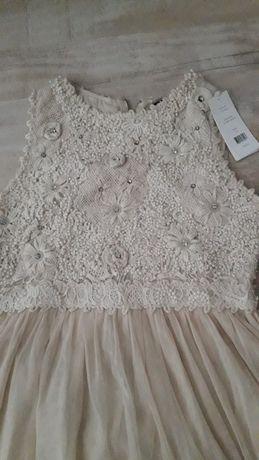 Елегантна рокля памучна дантела