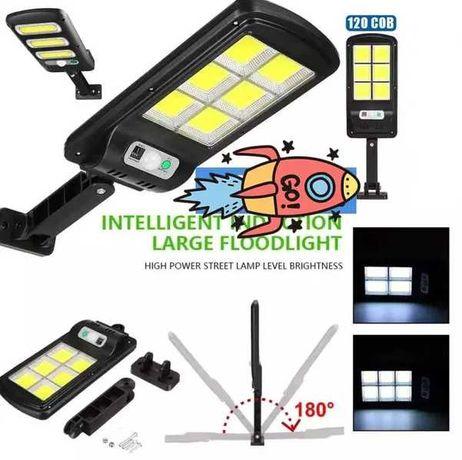 Соларна улична лампа 6 LED COB със сензор за движение