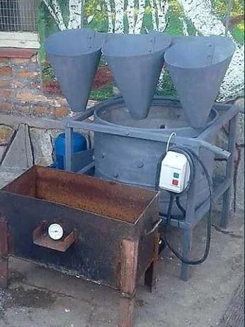 Машина за скубане на пера на всички птици (кокошки,бройлери, пилета,
