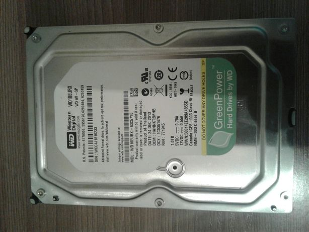 Продам жесткий диск 1тб 3,5