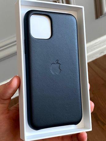 Оригинал Iphone 11 Pro кожанный чехол-Apple leather case
