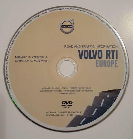 Навигационен диск Volvo RTI Europe MMM2 4xDVD 2018 Navigation Maps