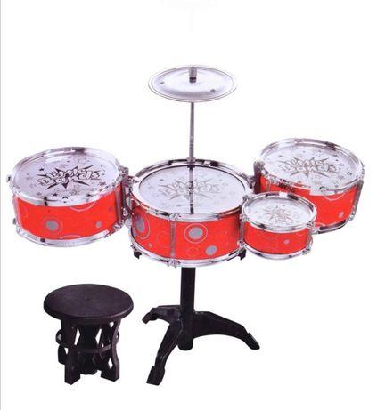 Детски барабани барабан със столче стол