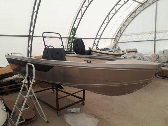 Алуминиева лодка 430х170см Мастер Про сертификат  СЕ