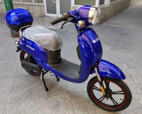 Bicicleta Electrica Scuter electric Z-Tech ZT-20, 250W, 48V 12Ah, Blue