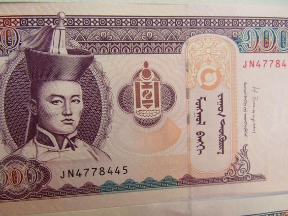 Монголия-сет от 10, 20, 100 и 1000 тугрика, нови