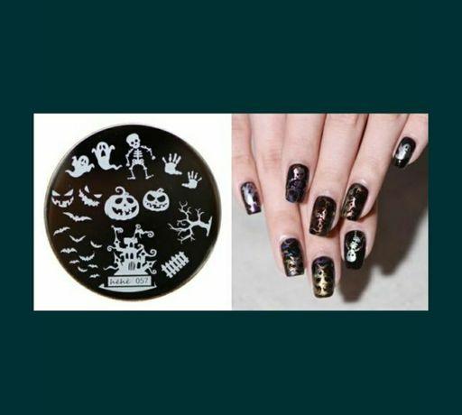 Matrita unghii halloween model unghii gel uv manichiura. 15 lei