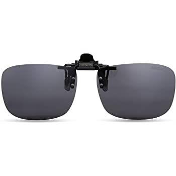Ochelari de soare clip-on, flip-up gri