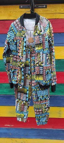 Deux Piece ( Bomber + Pantaloni) din Bumbac Ana-Maria  Saragia