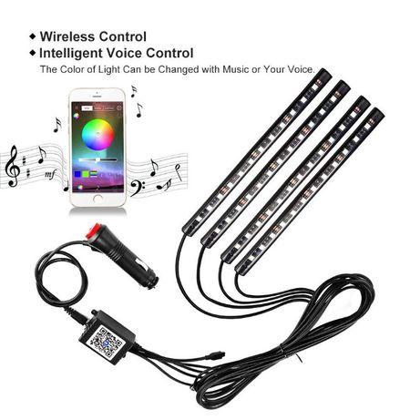 Lumini Ambientale Auto - Banda LED RGB (Controlata prin aplicatie)
