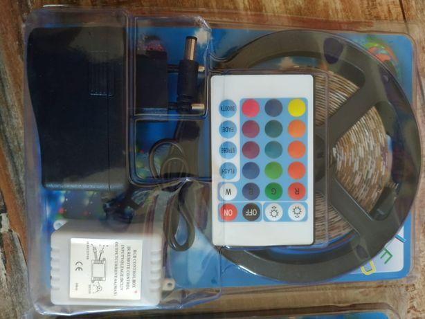 kit 5 metri Banda LED RGB silicon casa/auto+telecomanda+transformatoR