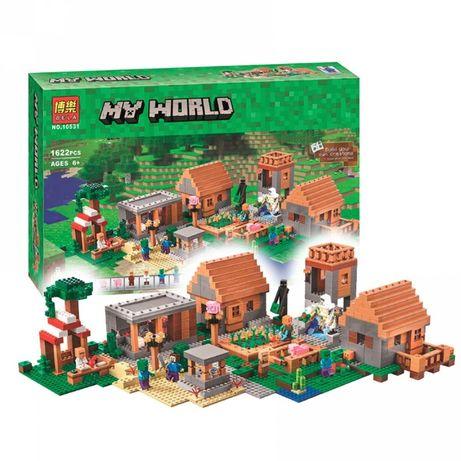 "Конструктор Bela 10531 ""Деревня"" Майнкрафт. (LEGO Minecraft 21128)"