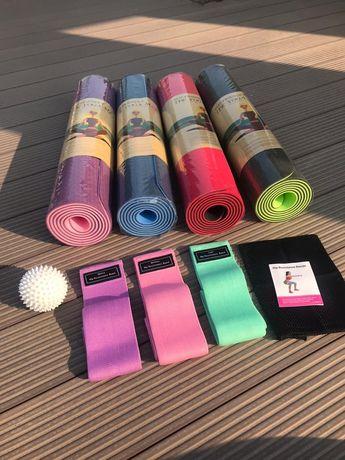Наборы для фитнеса, коврики, фитнес резинки, массажеры