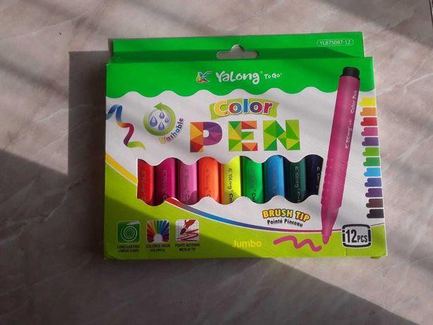 Фломастеры/Цветные карандаши/COLOR PEN/12 цветов/Подарок для детей