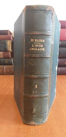 "Carte veche""L'Inde Anglaise"" 1857 de Edouard de Warren"