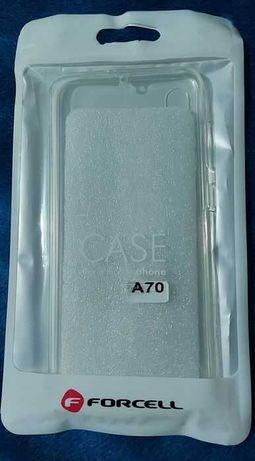 Husa Silicon Fata, Spate + Hybrid Armor Gri, Samsung Galaxy A70