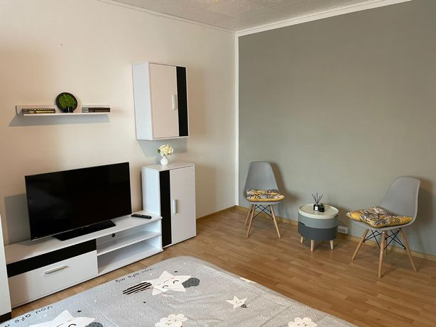 Gray apartment for families