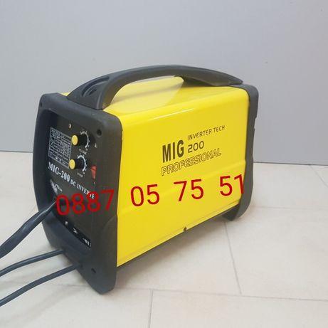 Телоподаващ 200 ампера инверторен заваръчен апарат