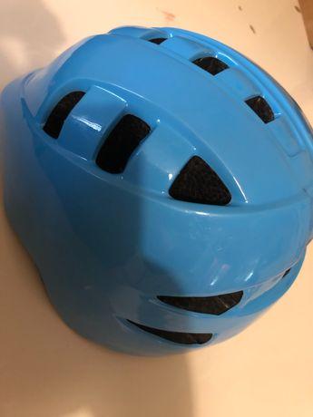 Casca protecție bicicleta albastra