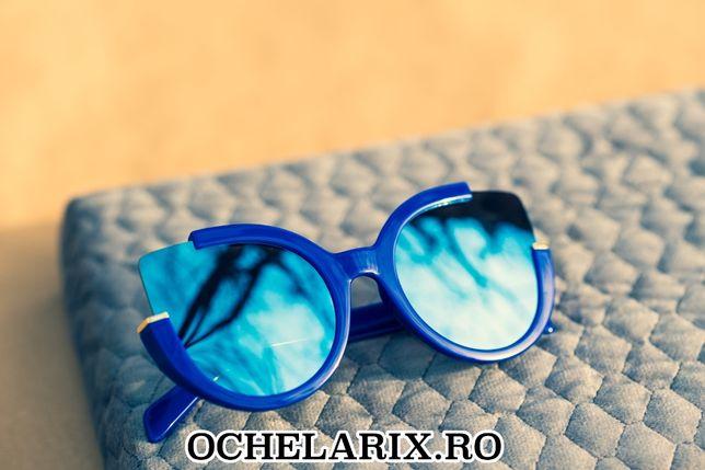 Ochelari De Soare Dama - CAT EYE Design- Protectie UV 100% - Albastri