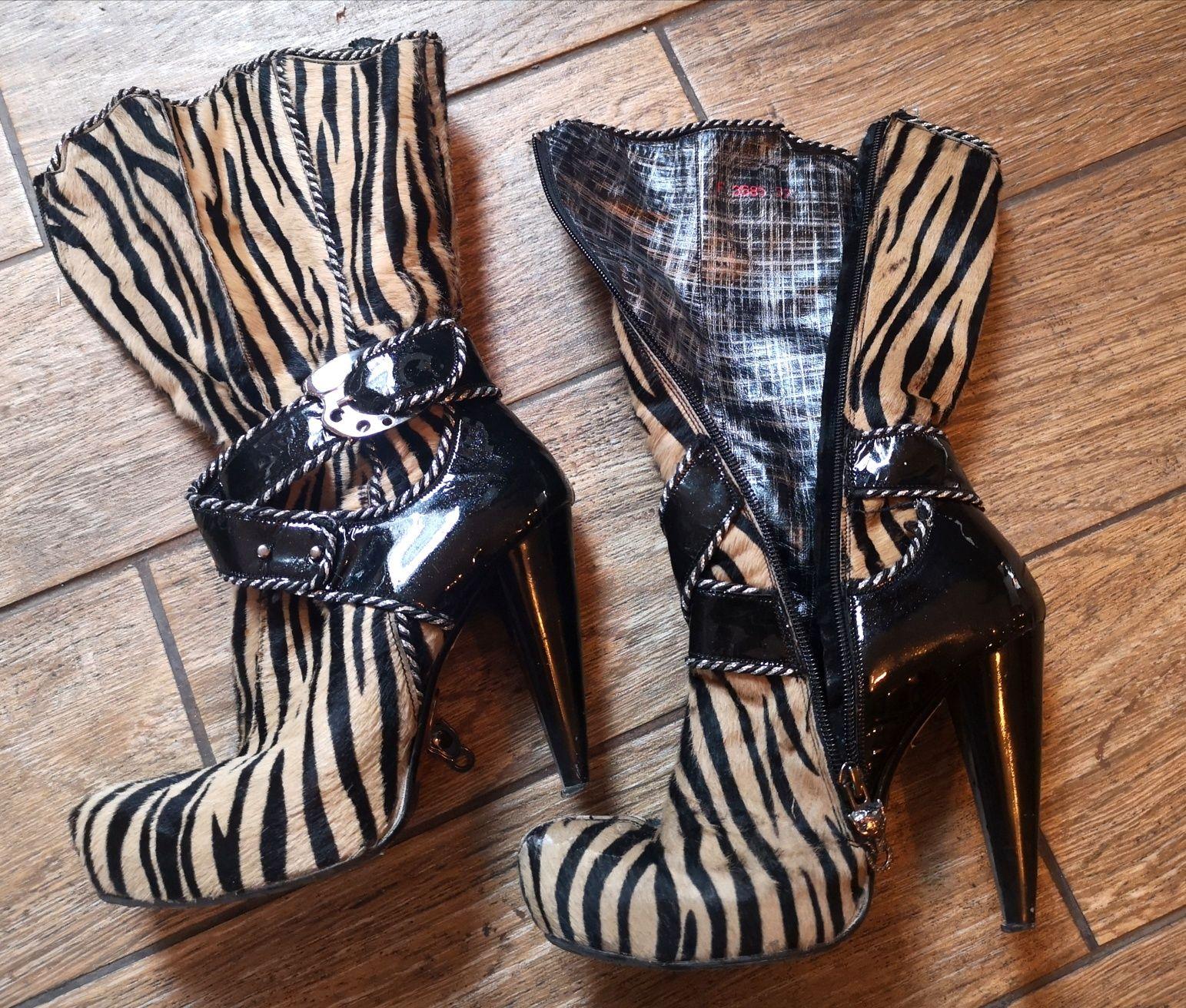Маркови обувки с ток Ferde естествена кожа