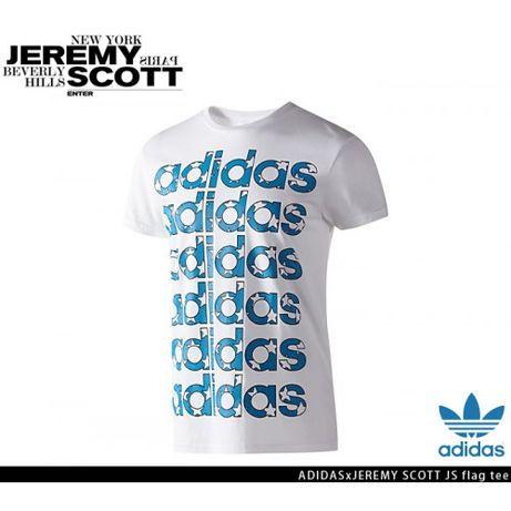 Adidas Originals Jeremy Scott USA Flag Мъжка Тениска размер XL