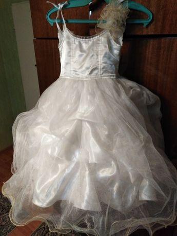 Официална бяла шаферска рокля