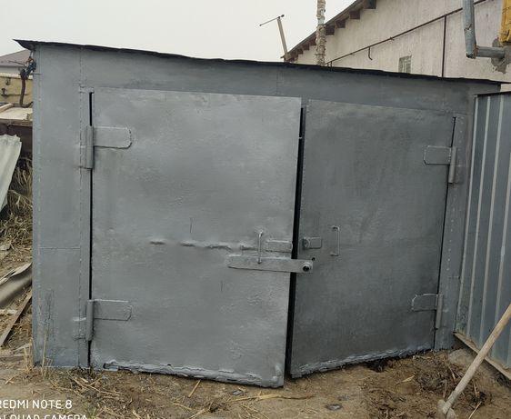 Продам обновленный стальной гараж. Прочный, заводской. Темир гараж