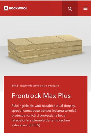 Vata bazaltica Rockwool Frontrock Max Plus