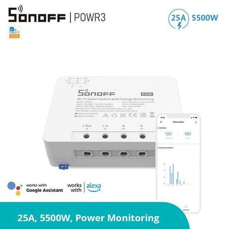 SONOFF POWR3 WIFI прекъсвач -  25A + Мониторинг консумираната енергия