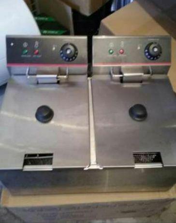 Професионален Електрически фритюрник 1х8 и 2Х8 литра,чисто нов!