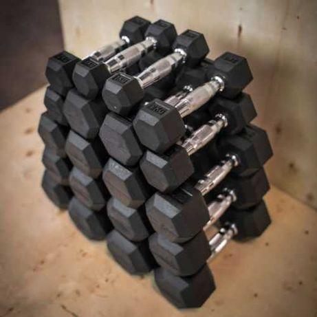 Сет Гири Хекс 1 до 10 кг (10 двойки) , Хексагонални Дъмбели