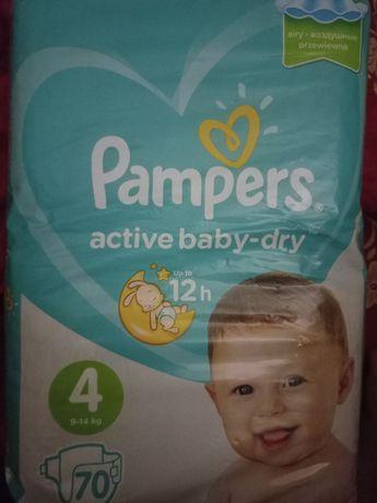 Продам подгузники Pampers active baby dry 4 ,9-14 кг.69 штук