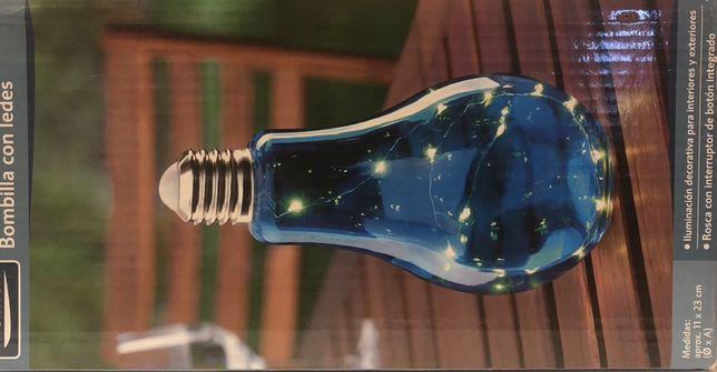 Bec LED decorativ albastru
