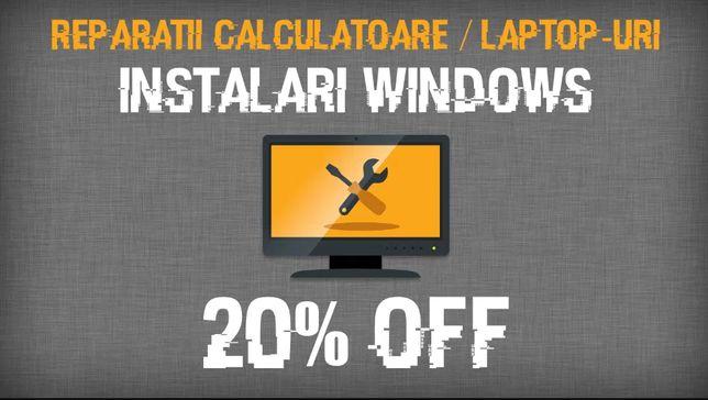 Reparatii laptop/calculator | Instalare Windows 7/8.1/10/macOS |