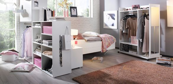 Модерна система гардероби за открито съхранение - 3 модула- Пром
