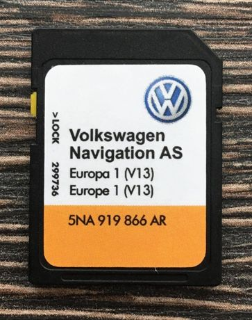 VW Discover Media AS V13 Sd Card MIB2 сд карта 2021гд Навигационна Кар