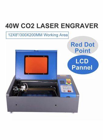 Upgraded* CO2 Лазер за гравиране и рязане K40 40W + Обучение