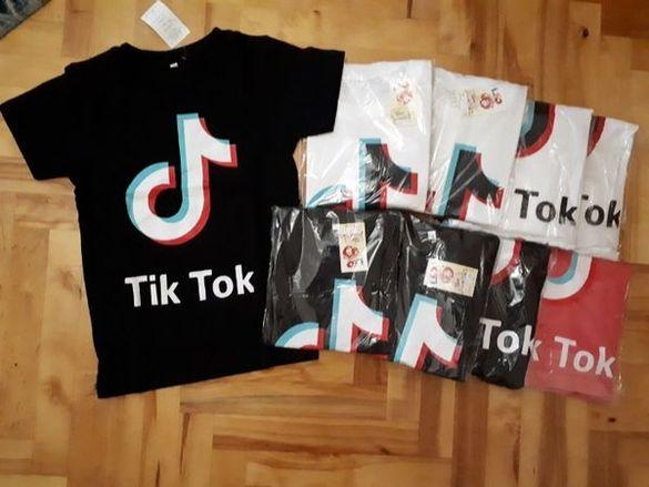Памучна тениска Tik Tok/ Тик ток