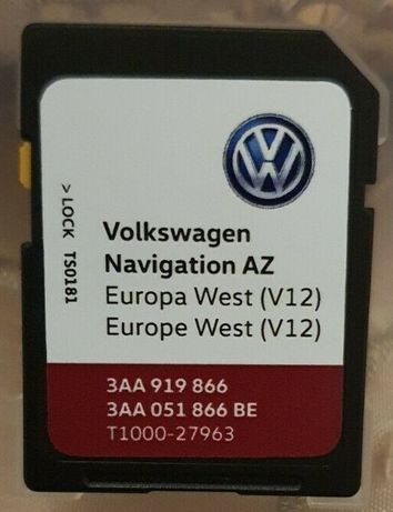 Фолксваген VW RNS 315 WEST Europe V12 SD card RNS315 2020 SEAT SKODA