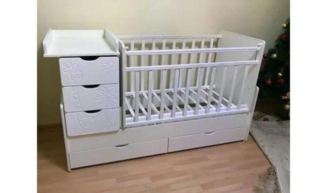 Продам Кроватки - трансформер Жираф 75000  +матрас+ Кокон, бортики
