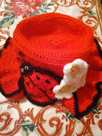 Нова плетена шапчица Калинка