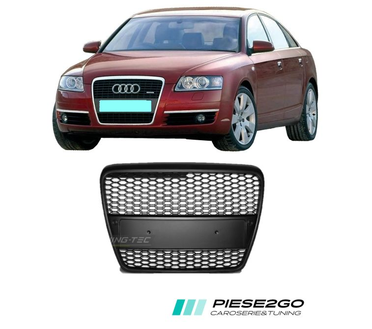 Grila radiator RS-Look Audi A6 C6 4F 2004-2008 negru satinat Bucuresti - imagine 1