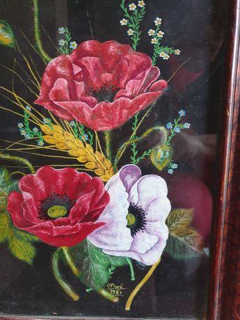 Tablou pictura cu macii rosii