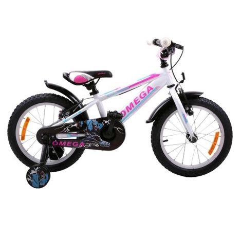 Bicicleta Omega Master 16″, pentru Copii, Cadru Otel, Roti ajutatoare